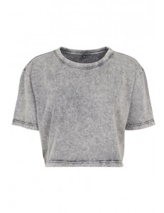 T-shirt crop washed