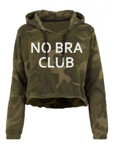 Bluza crop moro z kapturem NO BRA CLUB