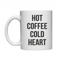 Kubek HOT COFFEE COLD HEART
