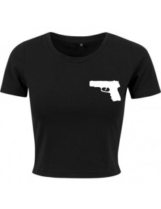 T-shirt crop slim GUN