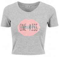 T-shirt crop slim ONE KISS