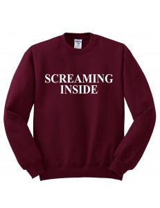 Bluza bez kaptura z nadrukiem SCREAMING INSIDE