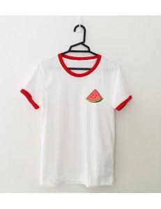 T-shirt oversize ringer WATERMELON /red/