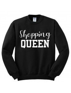 Bluza bez kaptura z nadrukiem SHOPPING QUEEN