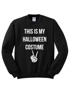 Bluza bez kaptura z nadrukiem THIS IS MY HALLOWEEN COSTUME