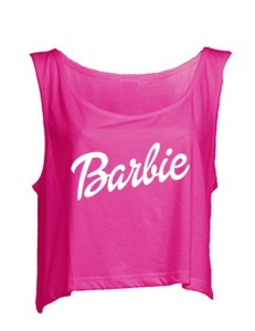 Top crop oversize Barbie