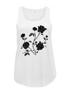 Bluzka tank top BLACK ROSES