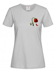 T-shirt damski EMOJI SAD ROSE