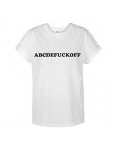 T-shirt oversize ABCDEFUCKOFF