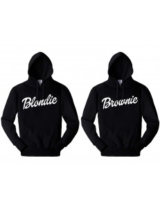 KOMPLET BLUZ Z KAPTUREM BLONDIE BROWNIE