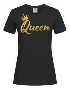 T-shirt damski z nadrukiem Queen Gold 2020