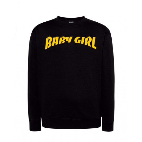 Bluza bez kaptura z nadrukiem Baby Girl Yellow