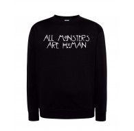 Bluza bez kaptura z nadrukiem ALL MONSTERS ARE HUMAN