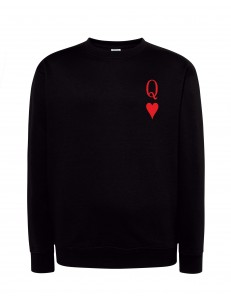 Bluza bez kaptura z nadrukiem QUEEN CARD