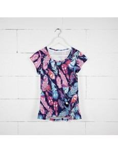 T-shirt damski fullprint FEATHERS COLOR