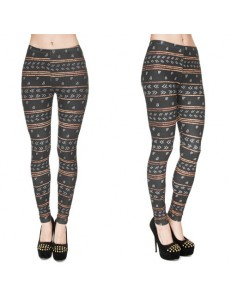 Legginsy fullprint AZTEC GLITTER