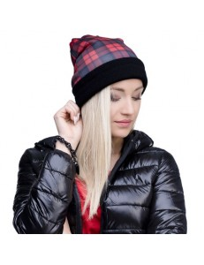 Czapka beanie fullprint TARTAN RED
