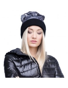 Czapka beanie fullprint BANDANA BLACK
