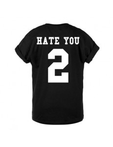 T-shirt oversize HATE YOU 2