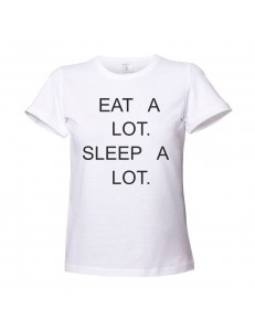 T-shirt damski EAT SLEEP A LOT