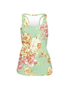 Tank top fullprint MINT FLOWER