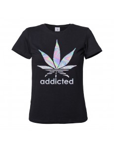 T-shirt damski ADDICTED /holographic/
