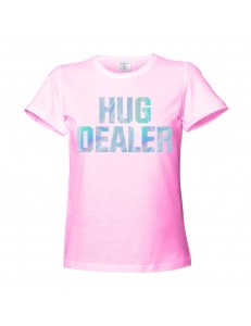 T-shirt damski HUG DEALER /holographic/