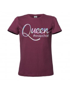 T-shirt damski QUEEN SNAPCHAT /holographic/