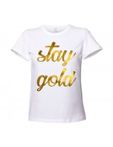 T-shirt damski stay gold /gold/