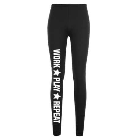Legginsy czarne WORK PLAY REPEAT