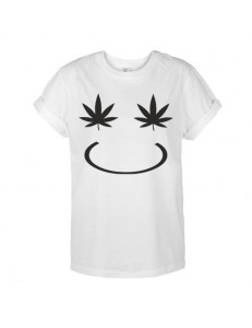 T-shirt oversize WEED SMILE