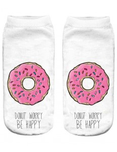 Skarpetki fullprint DONUT WORRY BE HAPPY
