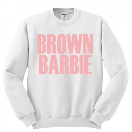 Bluza oversize BROWN BARBIE
