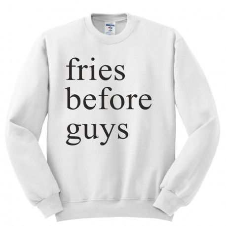 Bluza bez kaptura z nadrukiem fries before guys