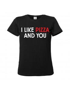 T-shirt damski I LIKE PIZZA AND YOU