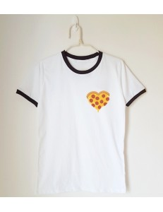 T-shirt oversize ringer HEART PIZZA