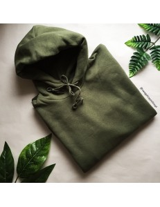 Bluza z kapturem /military green, khaki/