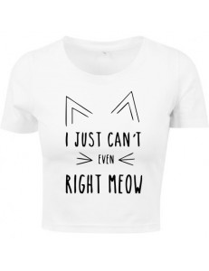 T-shirt crop slim RIGHT MEOW