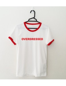 T-shirt oversize ringer OVERDRESSED /red/