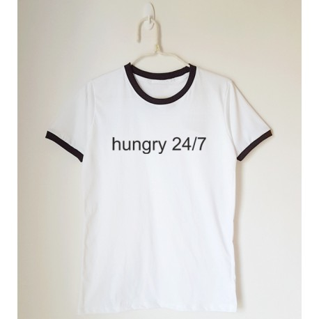 T-shirt oversize ringer hungry 24/7