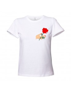 T-shirt damski HAND ROSE