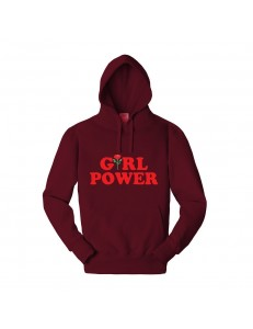 Bluza z kapturem z nadrukiem GIRL POWER