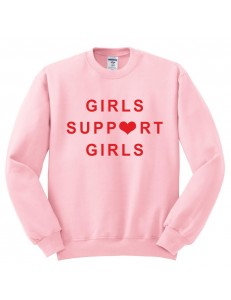 Bluza bez kaptura z nadrukiem GIRLS SUPPORT GIRLS