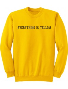 Żółta bluza bez kaptura z nadrukiem EVERYTHING IS YELLOW