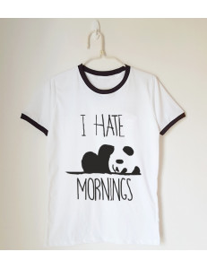 T-shirt oversize ringer I HATE MORNINGS