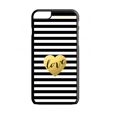 Etui na telefon STRIPES LOVE GOLD