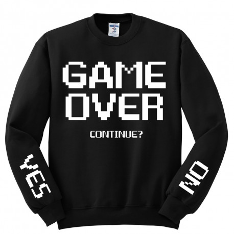Bluza bez kaptura z nadrukiem GAME OVER